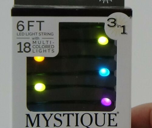 Fairy String lights 6FT 18 light LED Multi color change mystique  3in1 timer