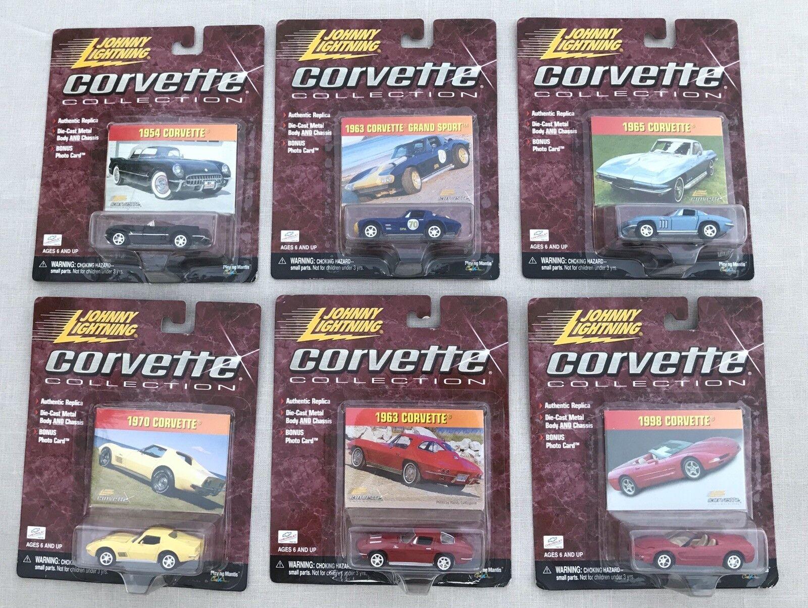 New in Box 2000 Johnny Lightning CORVETTE collection complète 6 Voiture Set-LIVRAISON GRATUITE