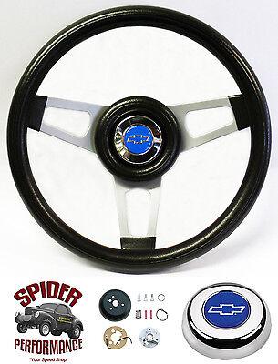 """1974-1994 Chevy pickup steering wheel BLUE BOWTIE 13 3/4"""" Grant steering wheel"""