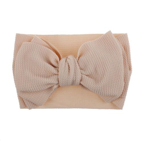 Baby Girls Twist Big Bow Elastic Headband Turban Wrap Hairband Hair Accessories