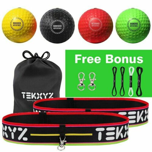 4 Difficulty Levels Boxing Reflex Ball Family Pack 2 Adjustable Headbands