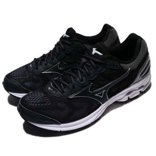 Mizuno Wave Rider 21 Black Grey Women Running Shoes Trainers Sneaker J1GD18-0309