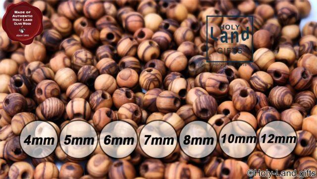 5mm~ Olive Wood Round Beads Polished Rosary Jewelry Holyland Bethlehem Jerusalem