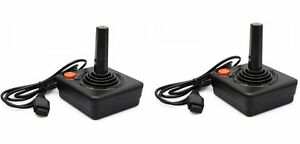 2x-2-PIECES-NEW-ATARI-JOYSTICK-CONTROLLERS-FOR-ATARI-2600-BY-TOMEE-IN-BOX