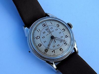 Vintage *Helbros* Mechanical Hand Winding Watch in Certina EA All Steel Case
