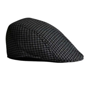 341c31bd88c Kids Cool Beret Cap Boys Girls Houndstooth Newsboy Hat Cabbie Flap ...