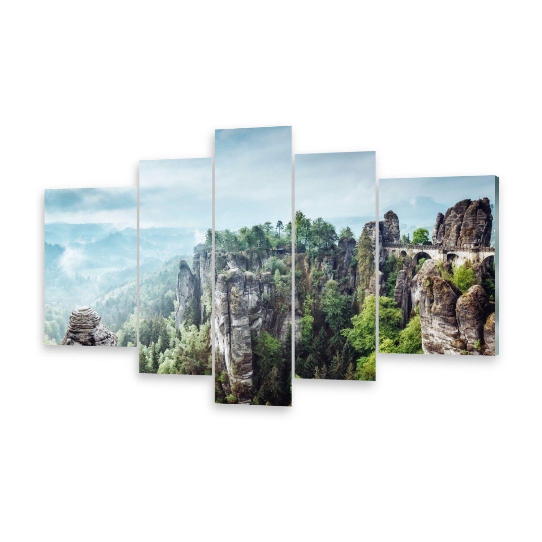 Mehrteilige Bilder Acrylglasbilder Wandbild Sandsteingebirge