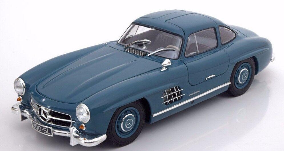 MINICHAMPS 1954 Mercedes Benz 300 SL W198 Light bluee 1 18 LE 336pcs New