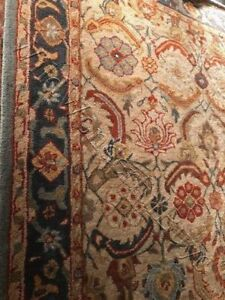 Pottery Barn Eva Rug 4x6 Persian Style Tufted Wool In Wrapping