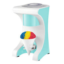 Brentwood Homemade Snow Cone Ice Shaver Maker Machine With 4 Reusable Cones Blue