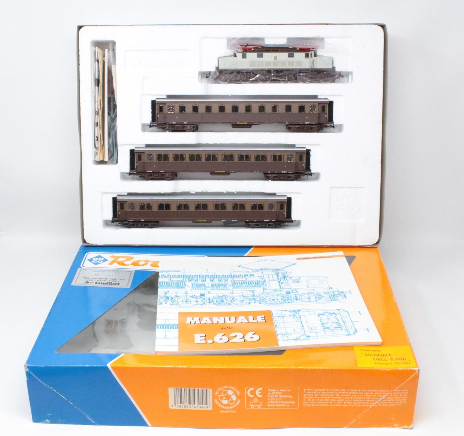 Roco h0 43042 Set phenomena and 626 Venezia Giulia Limited Ed. No 293 [mm3-005]