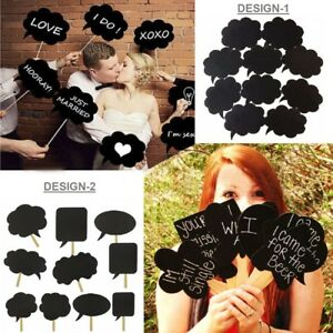 10PCS-Speech-Chalk-Board-Photo-Booth-Props-Christmas-Photography-Wedding-Party