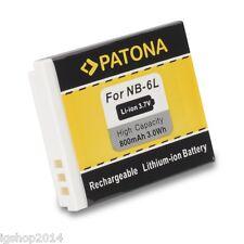batteria nb6l nb-6l per CANON IXUS 200 IS 800 max patona