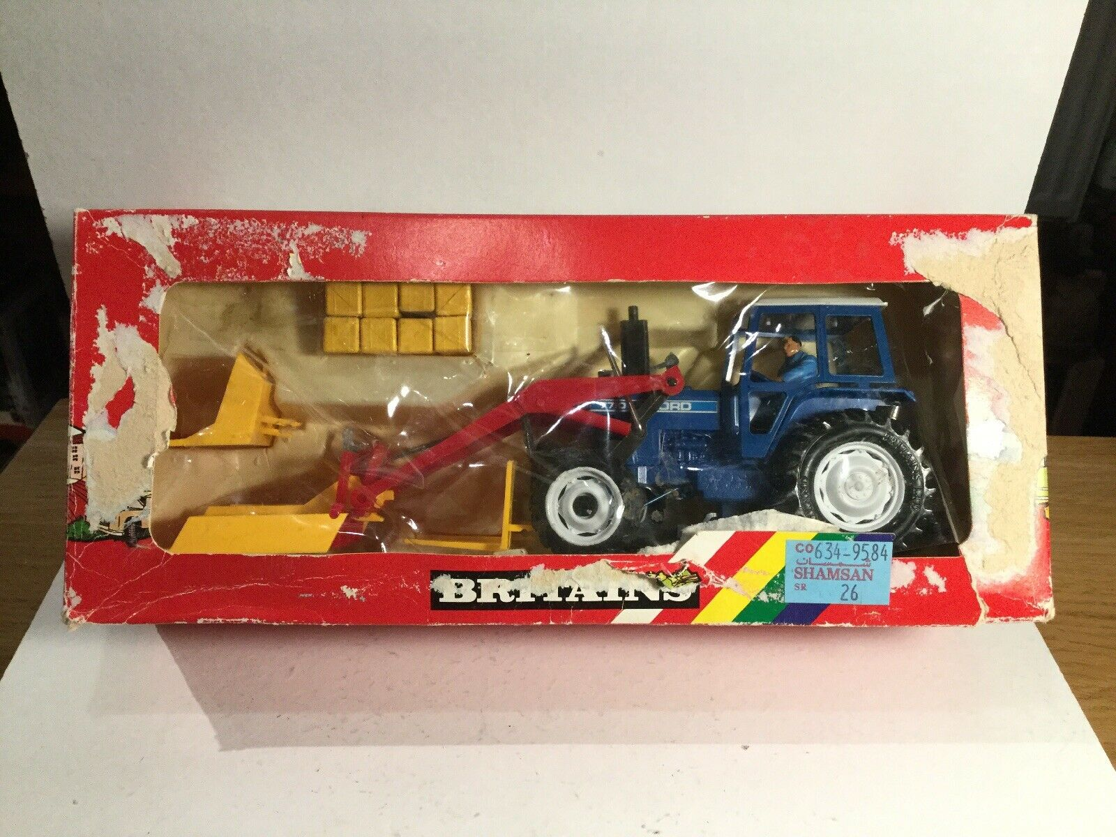 Vintage Britains 9584 Ford Tractor  With Front Loader Near Mint in Original Box  bonne qualité