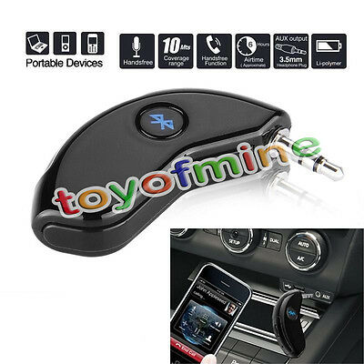 3.5mm Hands-Free Bluetooth Receiver Mic Car Wireless Connect Audio Aux Music