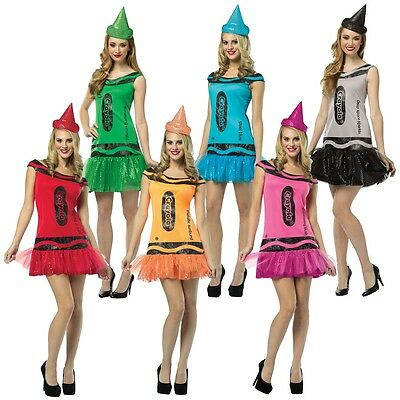 Crayola Crayon Party Dress Adult Funny Group Halloween Costumes