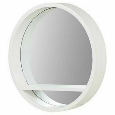 Decor Bathroom Bedroom, Round Mirror With A Shelf