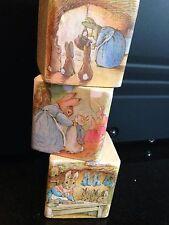 Beatrix Potter Peter Rabbit Wooden Blocks Nursery Vintage Very Shabby Chic