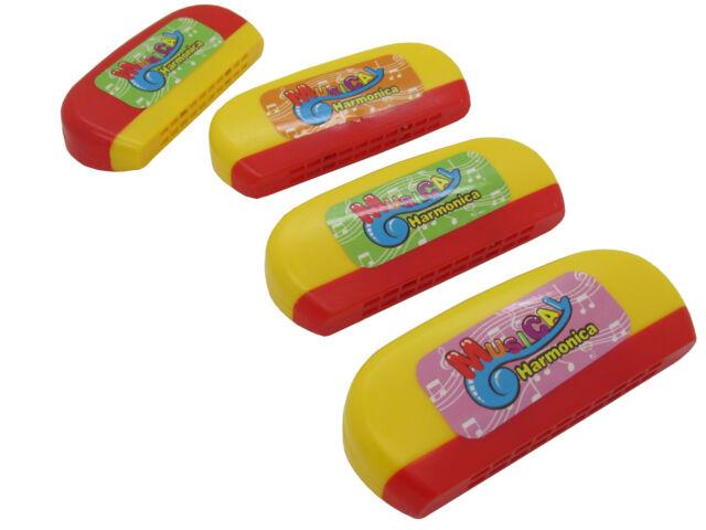 12 stk Mundharmonika Spielzeug für Kinder Flöte 11cm gelb/rot Mitbringsel