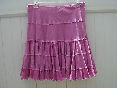 "Skirts Women's Clothing Original Alberto Makali 8 Pretty In Pink Tiered Flouncy Cotton Skirt Lined 29"" Waist"