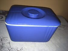vintage westinghouse by the hall china co. usa blue butter dish