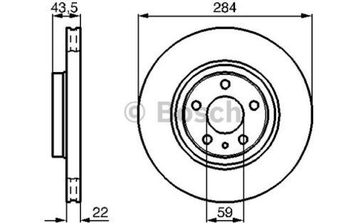 BOSCH Juego de 2 discos freno Antes 284mm ventilado OPEL COMBO 0 986 478 521