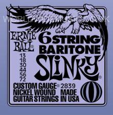 Ernie Ball 6 Cuerdas Barítono Slinky Nickel Wound Cuerdas Para Guitarra.013 -.072 2839