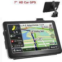 7 Hd Touch Screen Car Truck 8gb Gps Navigation Navigator Sat Nav +latest Maps