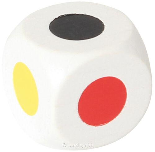 weiß 6 Farben Farbwürfel 25 mm 104674