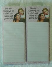 """3.25"""" x 8.25"""" Magnetic Notes """"Uh-oh! Mommy's on a diet and we're all gonna die!"""""""