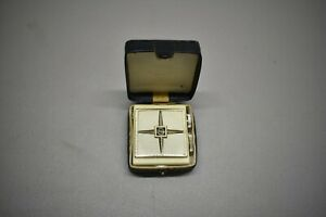 Nice Vintage Micro Transistor Radio Orion Model TR-711 & Case *Cracked Case Case