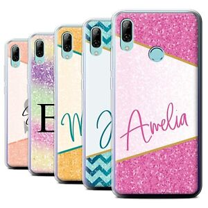 timeless design 3bca2 3738f Details about Personalised Custom Geometric Glitter Handwriting Case for  Huawei P Smart 2019