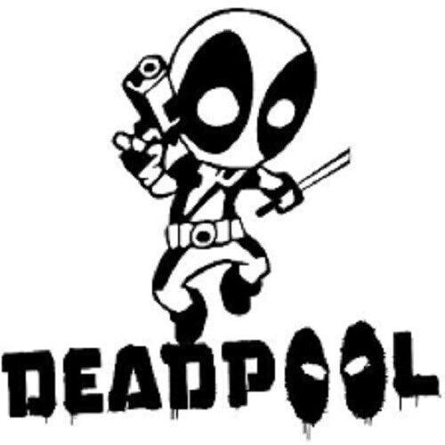 Deadpool Text Decal Wall Art Sticker Picture