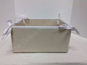 Image Is Loading Pottery Barn Kids Ivory Linen Storage Canvas Nursery
