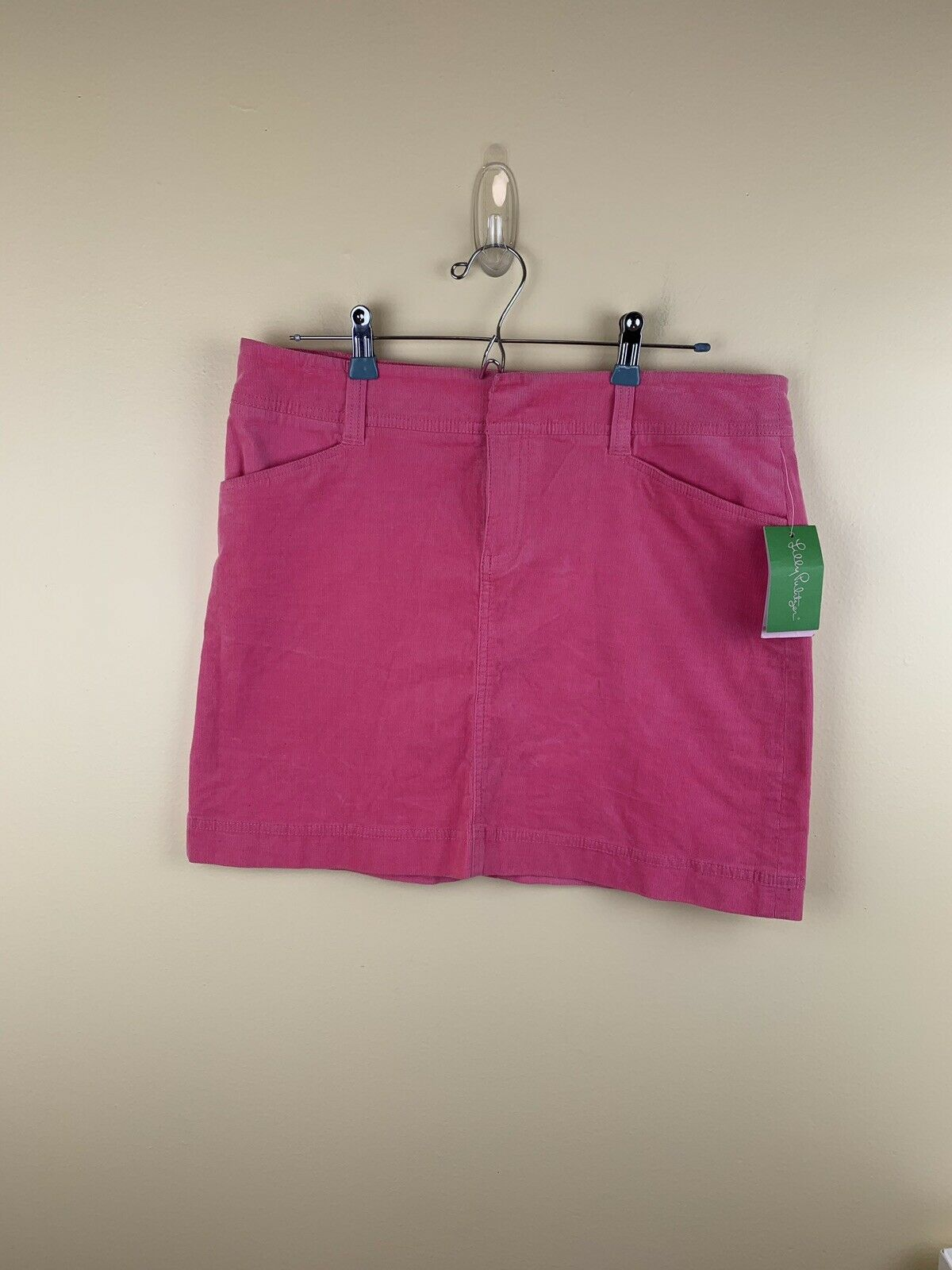 Lilly Pulitzer Women Sz 10 Pink Corduroy Mini Skirt B10