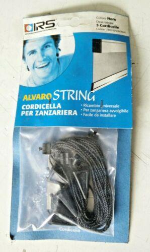 IRS ALVARO STRING 5 pezzi CORDICELLA  corde NERO RICAMBIO ZANZARIERA AVVOLGIBILE