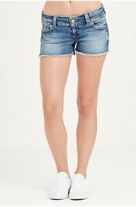 bcc5120b1 True Religion Womens Keira Low Rise Cut Off Shorts Gypset Blue ...