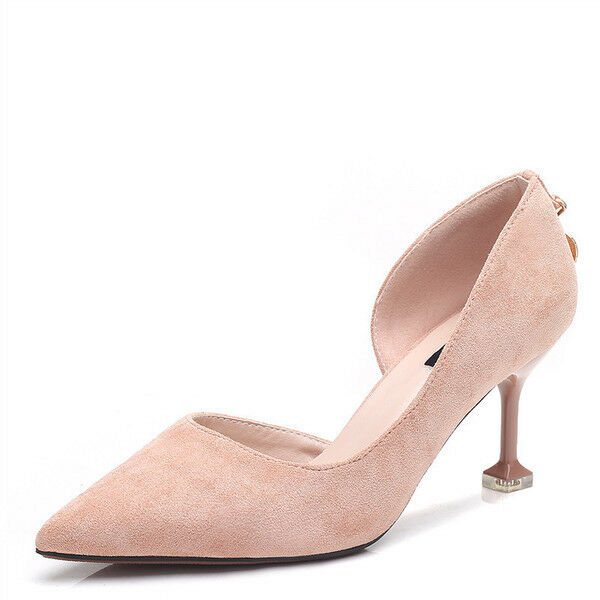 Descuento de la marca Descuento por tiempo limitado decolte donna 8 cm eleganti stiletto eleganti rosa scamosciate simil pelle 9681