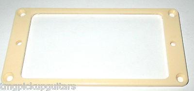 Pickup Tonabnehmer Rahmen flach creme 4,6 auf 6,3 mm hoch extra groß