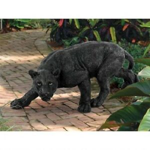Realistic-Life-Like-10-034-Black-Panther-Statue-African-wildlife-Sculpture