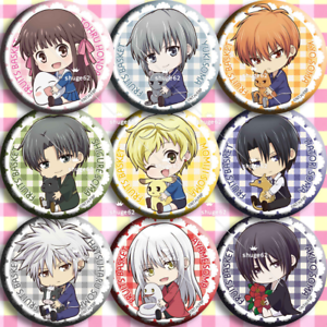 9pcs Anime Fruits Basket Cosplay Pin Button Brooch Badges Gift#S285-5