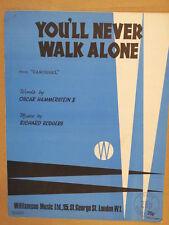 song sheet YOU LL NEVER WALK ALONE carousel 1945