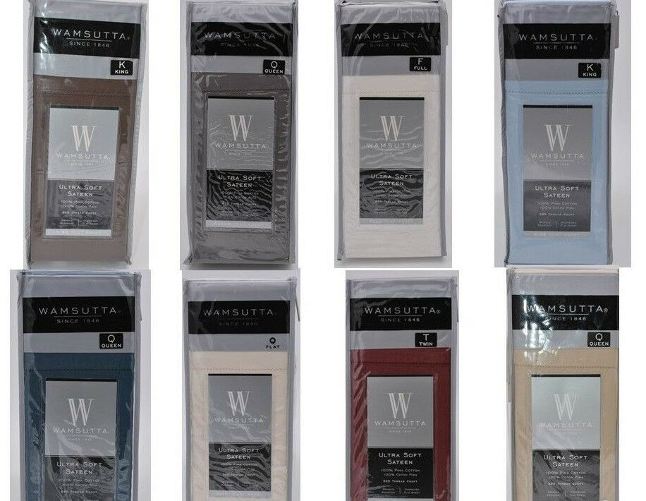 Wamsutta 100% Pima Cotton 525 Thread Ct Wrinkle Resistant New