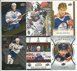 Edmonton-Oilers-14-Hockey-Card-Lot-Connor-McDavid-Wayne-Gretzky-Ethan-Bear