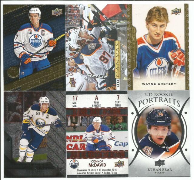 Edmonton Oilers 14 Hockey Card Lot Connor McDavid Wayne Gretzky Ethan Bear +++