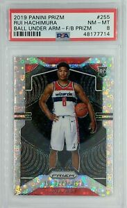 2019 Panini Prizm Variation Fast Break Rui Hachimura Rookie #255, Graded PSA 8