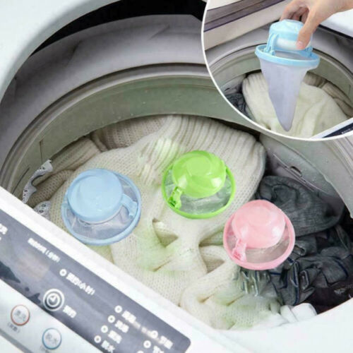 Washing Machine Filter Bags Mesh Pet Fur Catcher Floating Hair Lint Remover Tool