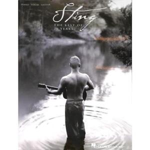 Sting: the Best of 25 years. per pianoforte, canto & chitarra