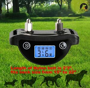 LCD-Screen-Dog-Bark-Collar-Small-Large-Dogs-Rechargeable-Reflective-Paipaitek