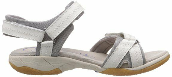 Femmes Clarks Isna Pebble Cuir Marche Sport Sandales Blanches Femme Taille 3 D